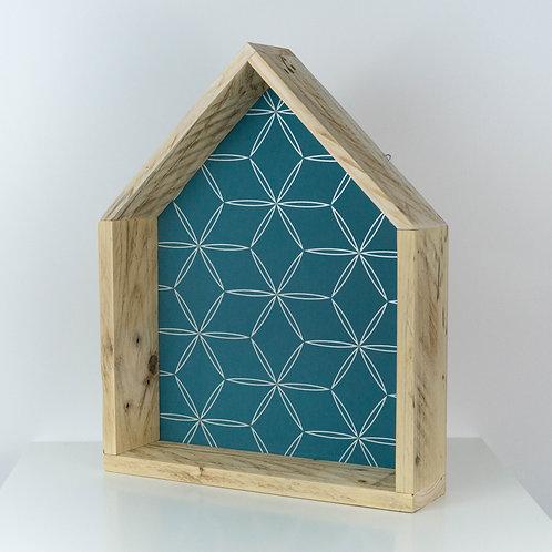 Etagére bois en forme de maison