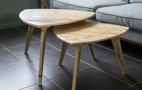 Tables basses gigognes palette graphik créateur de mobilier en bois de palette