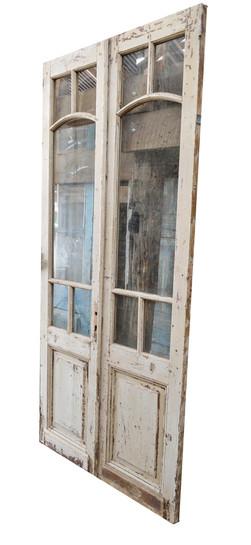 GLASS AND WOOD DOOR