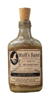 MERCURY GLASS WOLF'S BANE BOTTLE