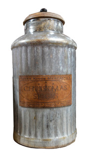 MERCURY GLASS JAR