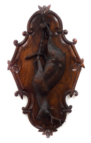 BLACK FOREST WOOD PLAQUE