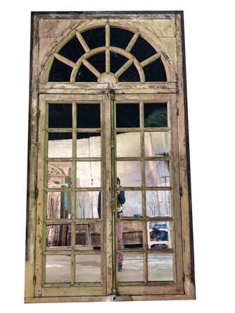 WOOD WINDOW WITH MIRROR