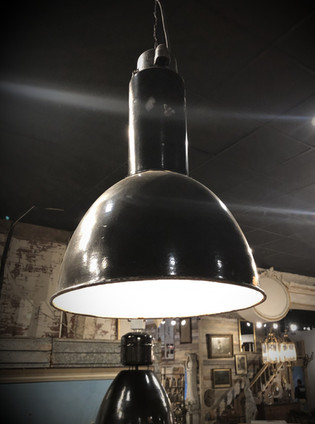 Black Industrial Vintage European Light