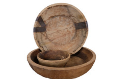 WOOD BOWL WITH COPPER PATCH