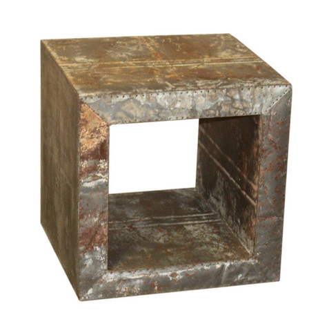 IRON BOX SIDE TABLE