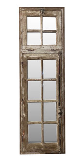 WOOD WINDOW WITH MIRROR