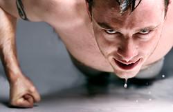 push ups and sweat