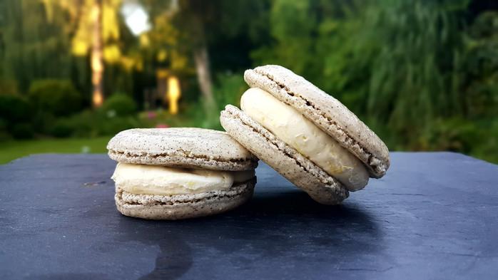 Earl Grey & Lemon Swiss Buttercream Macarons