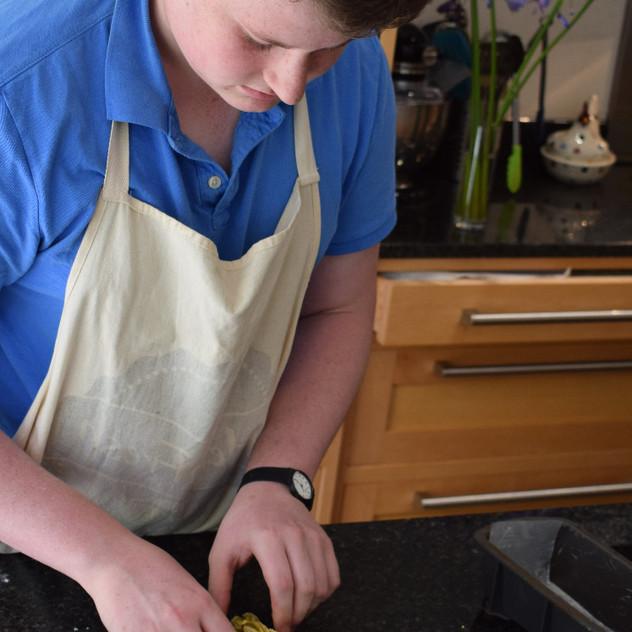 Preparing the Babka