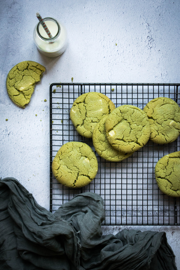 Pistachio & White Chocolate Cookies
