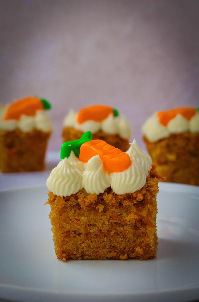 Carrot & Cardamom Squares