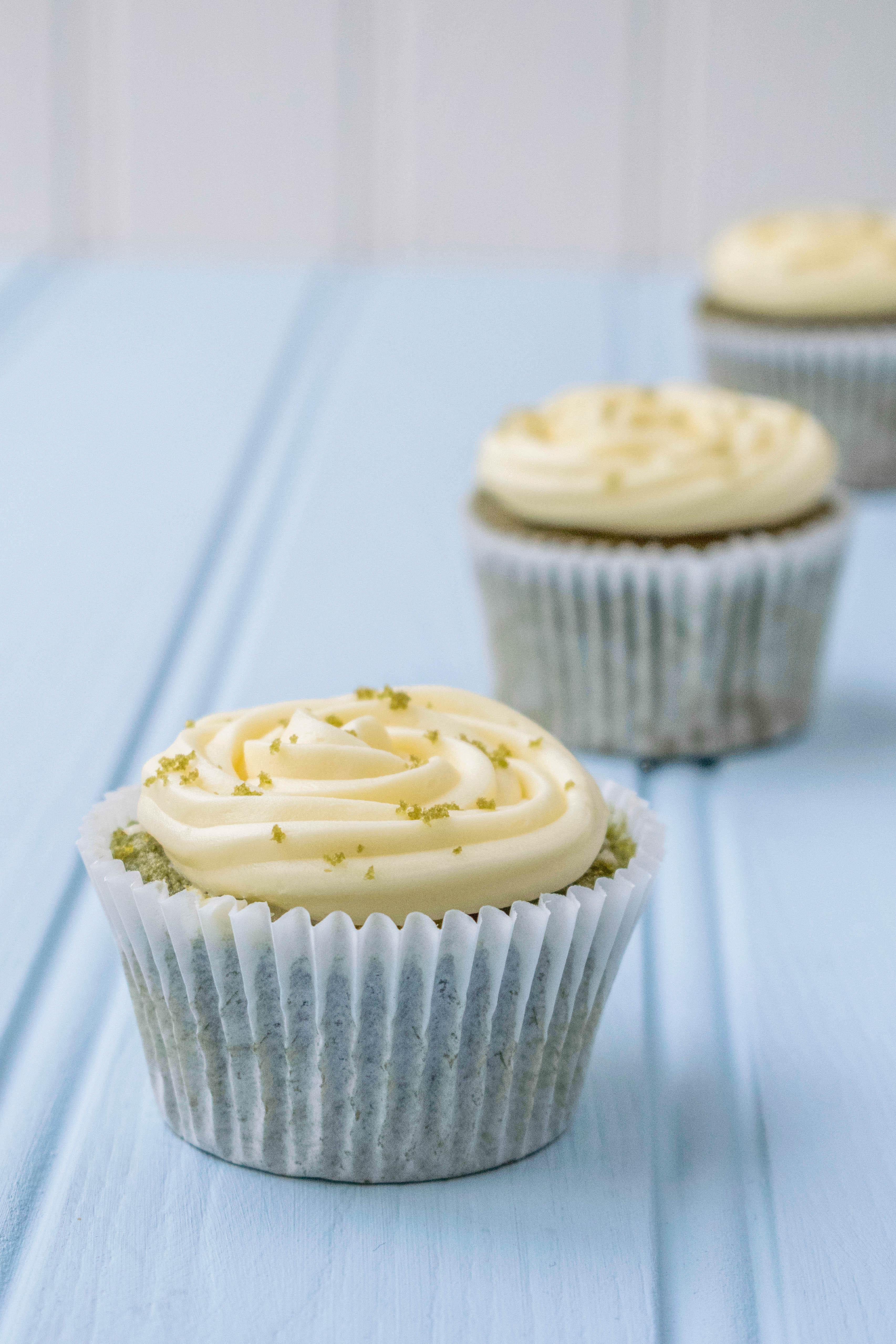 Matcha & White Chocolate Cupcakes