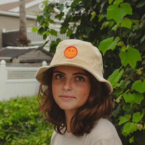 SAND CORDUROY BUCKET HAT