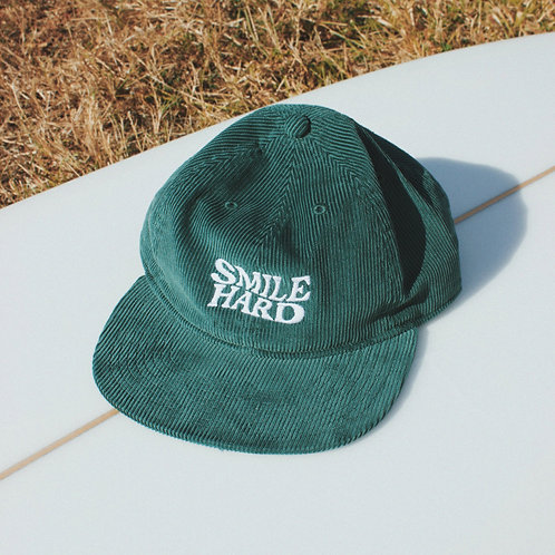 GREEN CORDUROY HAT
