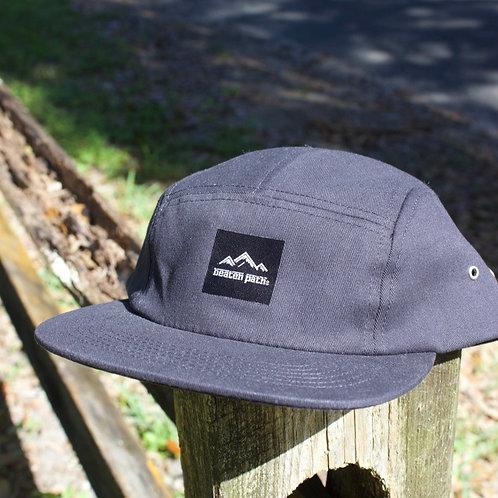 BLACK 5-PANEL HAT