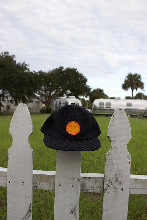 BLACK CORDUROY HAT