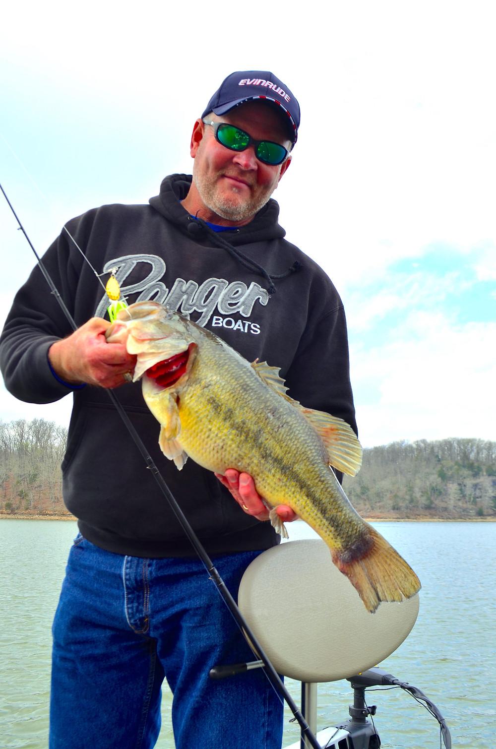 John Hewkins with Big Bass