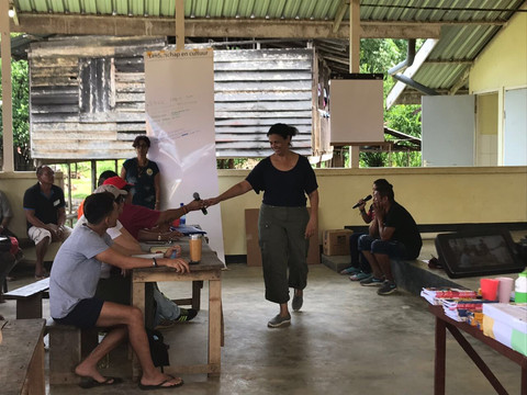 Facilitating a meeting with indigenous peoples