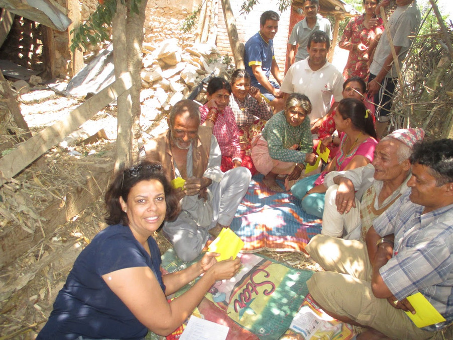 Helping earthquake victims in Nepal