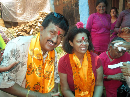 Celebrating with a rural community