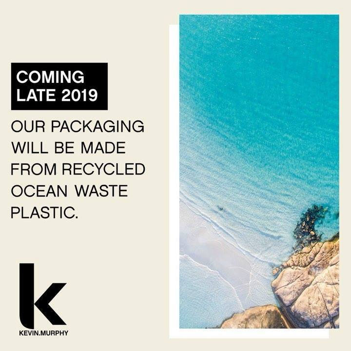 8 million tons of plastic - the equivalent of one garbage truck per minute - leaks into the world's oceans. KEVIN.MURPHY is committed to being part of the solution. Our new packaging, coming in 2019, will be made of 100% Ocean Waste Plastic. We hope