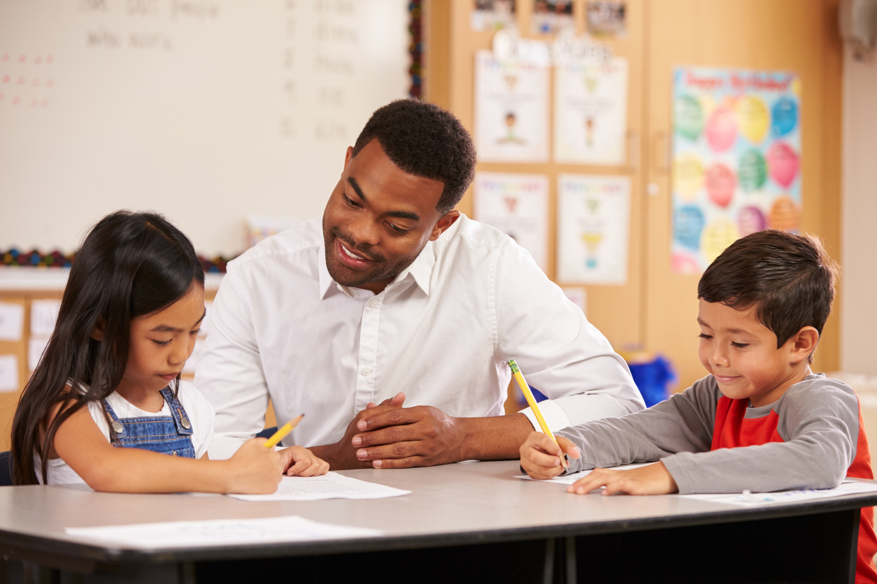Elementary Black Man Teacher