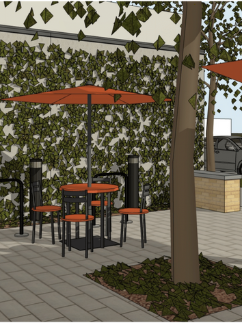 Outdoor Seating at Shechem