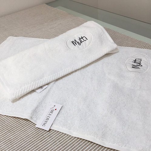 Handtuch 'Mutti' weiß