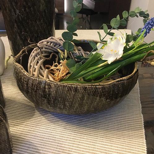 Schale Keramik Olivgrün