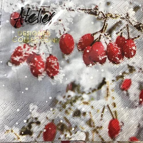 """Lunch Servietten """"Snowberries"""""""