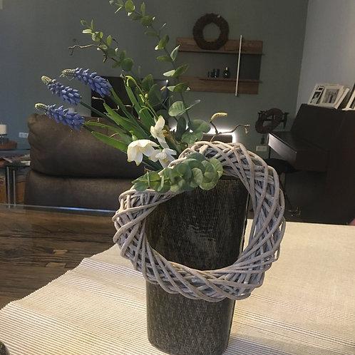 Vase Keramik Olivgrün