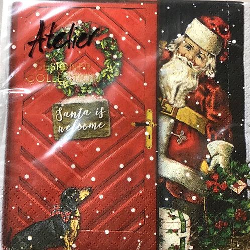 """Lunch Servietten """"Santa is welcome"""""""