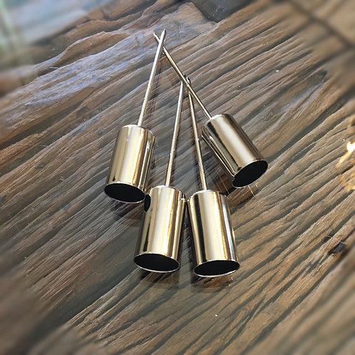 Kerzenstecker 'Bornio' für Stabkerzen - Silber