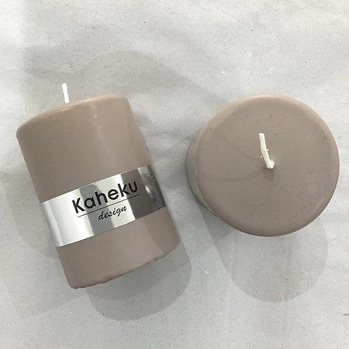 Cylinder Kerze Taupe