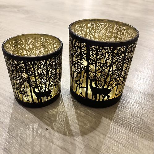 Teelichthalter 'Schwarzer Wald'