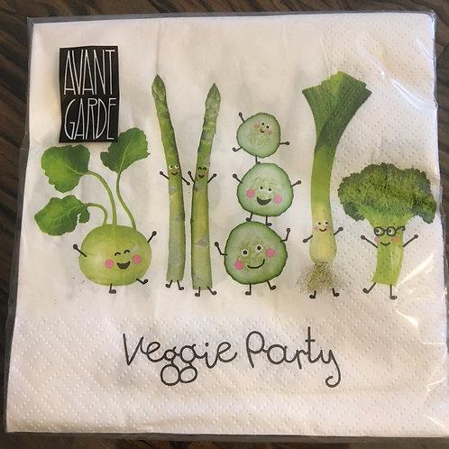 Servietten 'Veggie Party'