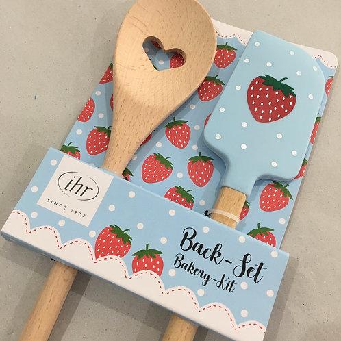"""Backutensilien Set """"My Little Strawberry """""""