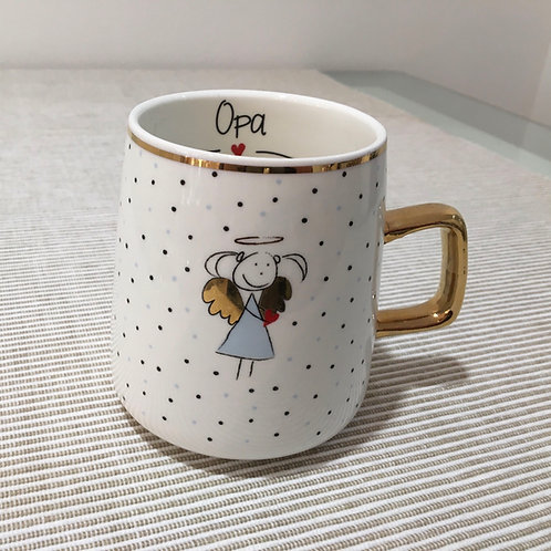 Tasse mit Goldhenkel Opa