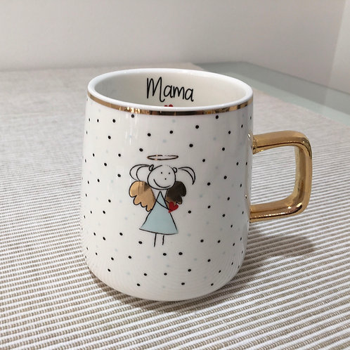 Tasse mit Goldhenkel Mama