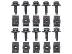 Body Bolt Kit with J-Clip 1/4 - 20 - Long (10 Pack)