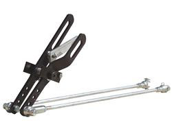"""PRP Two Lever Shifter w/Lock & Clevis - Black - 20"""" Rod"""