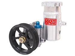 Power Steering Pump Kit: KRC Cast High Perf Pump w/Bolt On Tank Serp. Pulley