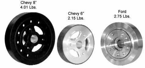 Aluminum-Steel Harmonic Balancer-, Crate Motor- NON IMCA