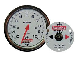 """Quickcar Tach 3 3/8"""" With Remote Recall"""