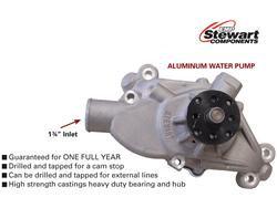 """Water Pump: Stewart Stage 3 Water Pump - short - 3/4"""" Shaft"""