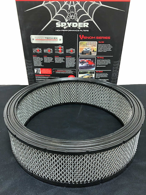"""Spyder 14"""" DRY Air Filter, Pro Dirt Series, Washable, 2 Stage Sealing Beads"""