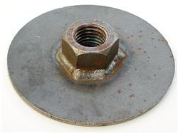 HD heavy duty weld in weight jack plate with nut