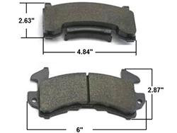 AFCO Brake Pads GM Metric