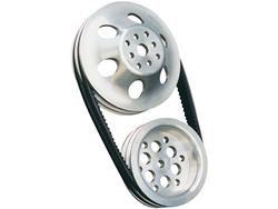 Short WP 25% Reduction Pulley/Belt Combo - Cast Aluminum -